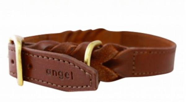Angel-Braided-collar-with-brass-hardwear