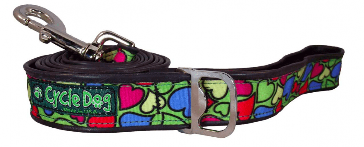 Cycle Dog Green based heart collar