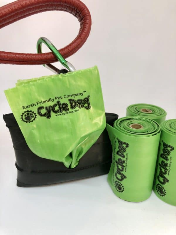 Cycle Dog pick up bags made from corn starches with recycled park pouch 6 rolls 72 bags