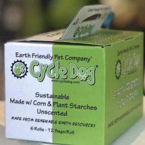 Cycle Dog poo bags made from plants 100% biodegradable.