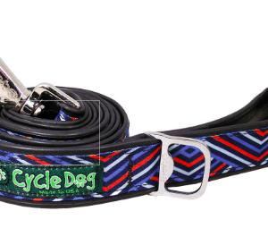 Cycle Dog blue orange diagonals dog collar