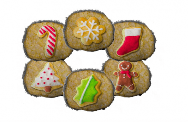 Cycle Dog chrismas cookies pack of three dog toys