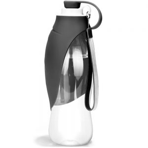 leaf design dog water bottle