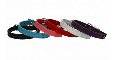 Angel soft leather cat collars plain
