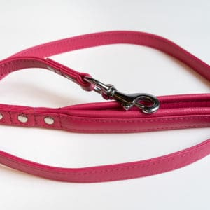 Angel Leather dog lead Hot Pink limited edition