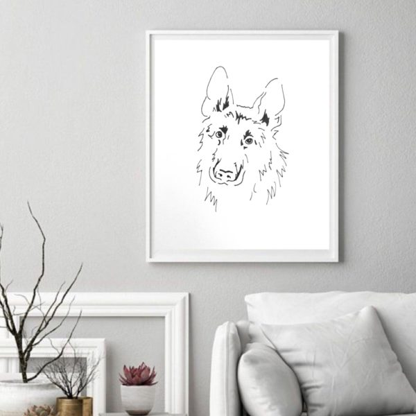 Dusk to Dawn fine art drawings 'the German Shepherd'