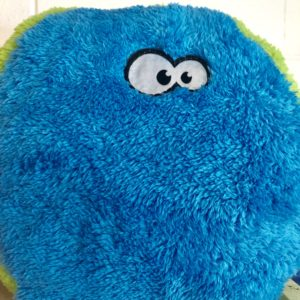 Cycle Dog Fuzzball dog toy blue and green