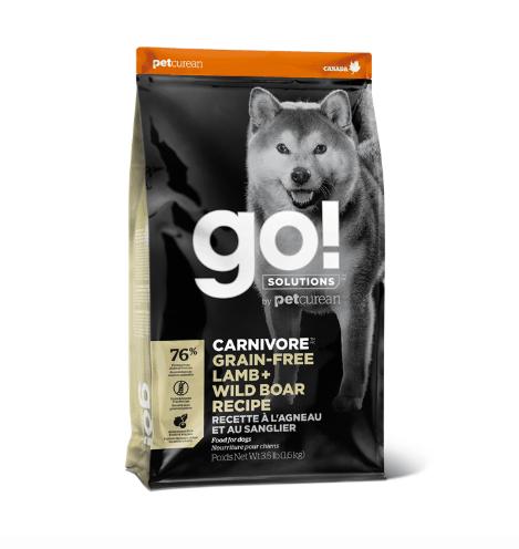 Go! Solutions Carnivore Grain - Free Lamb + Wild Boar Recipe 1.6kg
