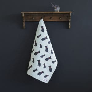 French Bulldog Tea Towel organic cotton