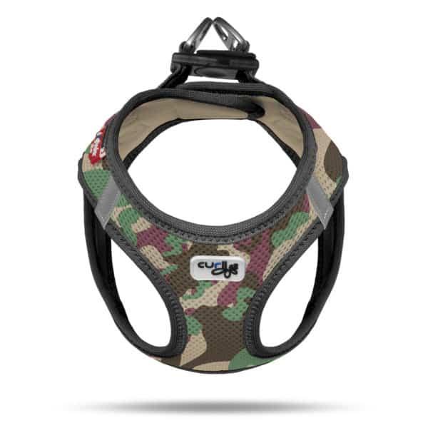 Curli comfort step in dog vest harness Swiss design Camo