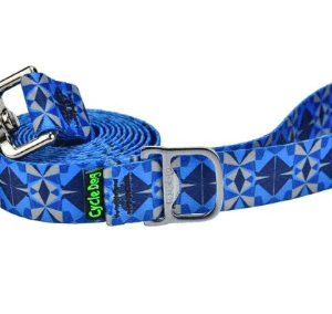Cycle Dog dog lead eco weave blue grey Kaleidoscope with pup top bottle openere