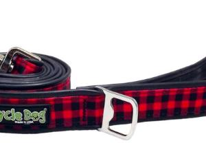 Cycle Dog waterproof dog lead red plaid eco friendly