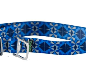 Cycle Dog dog collar blue grey Kaleidoscope made from plastic bottles