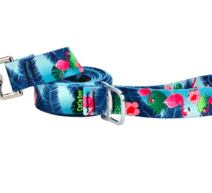Cycle Dog dog lead eco weave Flamingo's made from plastic bottles