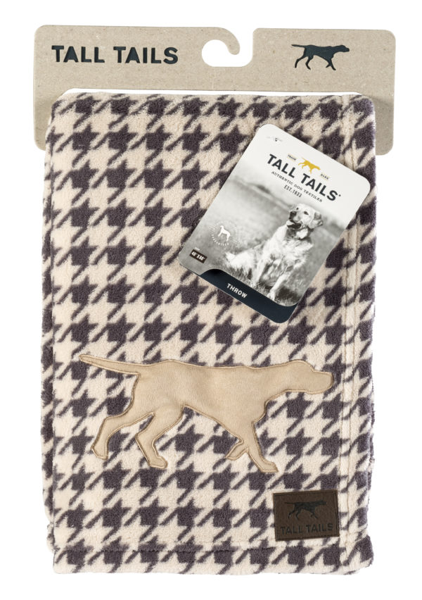 Tall Tails dog blanket soft fleece Houndstooth throw