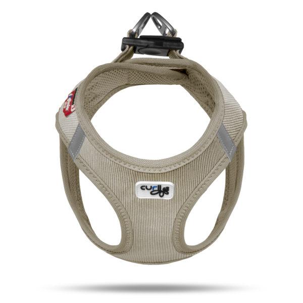 Curly Air Mesh Comfort vest harness Cord Tan